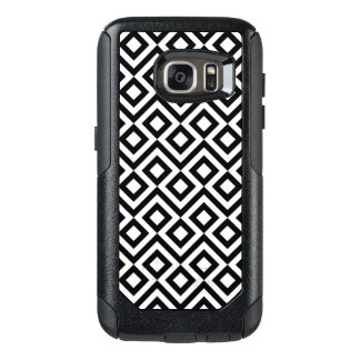 Rugged Black and White Meander Pattern OtterBox Samsung Galaxy S7 Case