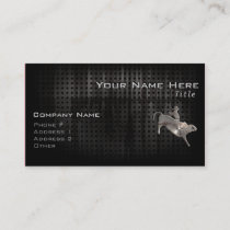 Rugged Bull Rider Business Card