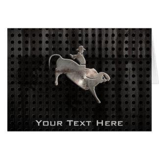 Rugged Bull Rider Card