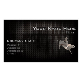 Rugged Bull Rider Double-Sided Standard Business Cards (Pack Of 100)