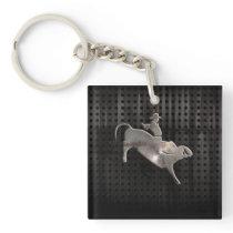 Rugged Bull Rider Keychain