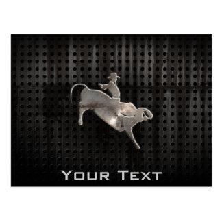 Rugged Bull Rider Postcard