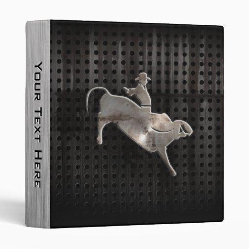 Rugged Bull Rider Vinyl Binder