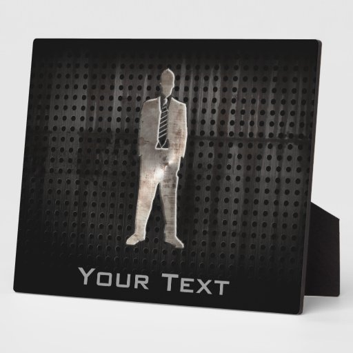 Rugged Business Suit Display Plaque