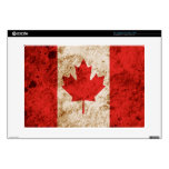 "Rugged Canadian Flag 15"" Laptop Skin"