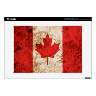 "Rugged Canadian Flag 15"" Laptop Skin"