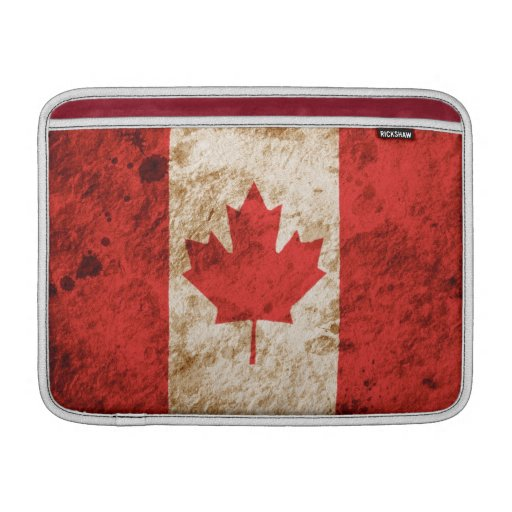 Rugged Canadian Flag Sleeves For MacBook Air