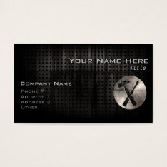 Rugged Carpenter Tools Business Card at Zazzle