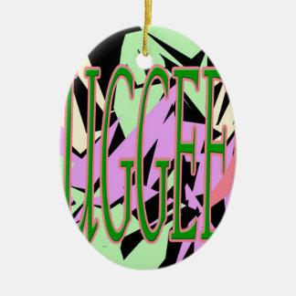 rugged ceramic ornament
