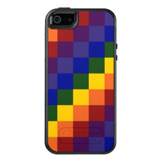 Rugged Checkered Rainbow Pattern OtterBox iPhone 5/5s/SE Case
