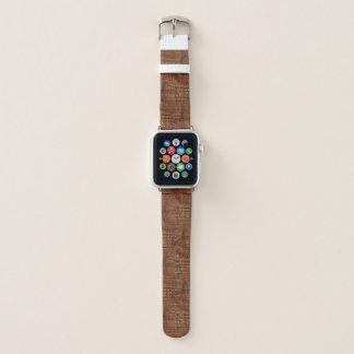Rugged Chestnut Oak Wood Grain Look Apple Watch Band