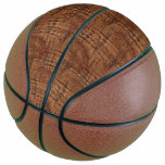 Rugged Chestnut Oak Wood Grain Look Basketball