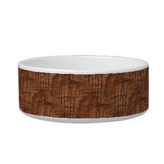 Rugged Chestnut Oak Wood Grain Look Bowl