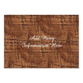 Rugged Chestnut Oak Wood Grain Look Card