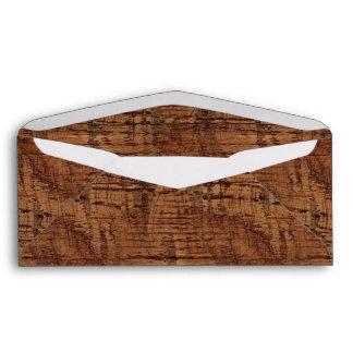 Rugged Chestnut Oak Wood Grain Look Envelope