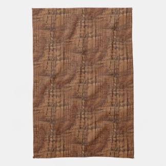Rugged Chestnut Oak Wood Grain Look Hand Towel