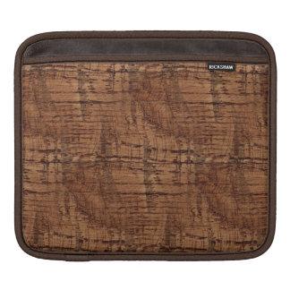 Rugged Chestnut Oak Wood Grain Look iPad Sleeve