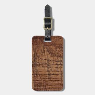 Rugged Chestnut Oak Wood Grain Look Luggage Tag