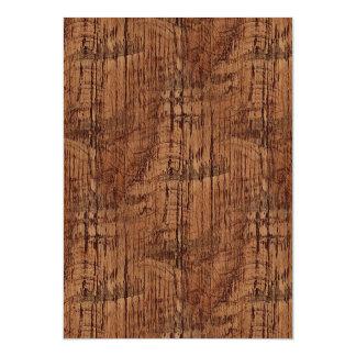 Rugged Chestnut Oak Wood Grain Look Magnetic Card