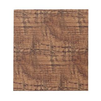 Rugged Chestnut Oak Wood Grain Look Notepad
