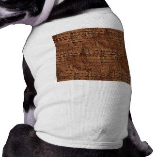 Rugged Chestnut Oak Wood Grain Look Shirt