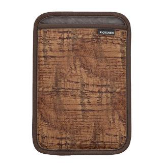 Rugged Chestnut Oak Wood Grain Look Sleeve For iPad Mini