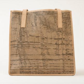 Rugged Chestnut Oak Wood Grain Look Tote