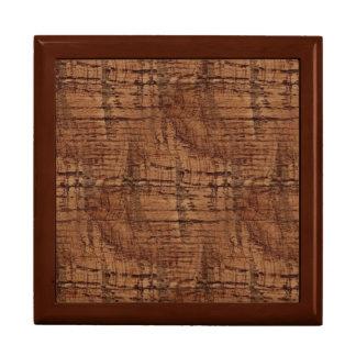 Rugged Chestnut Wood Grain Look Keepsake Boxes