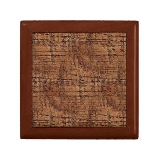 Rugged Chestnut Wood Grain Look Jewelry Box