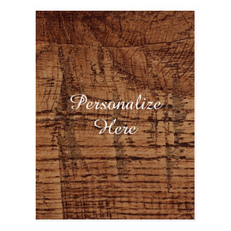 Rugged Chestnut Wood Grain Look Postcards