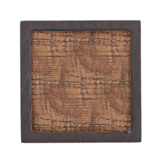 Rugged Chestnut Wood Grain Look Premium Gift Boxes