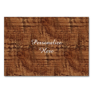 Rugged Chestnut Wood Grain Look Table Cards