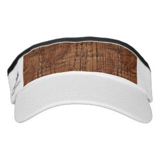 Rugged Chestnut Wood Grain Look Headsweats Visors