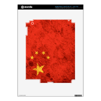 Rugged Chinese Flag Decals For iPad 3