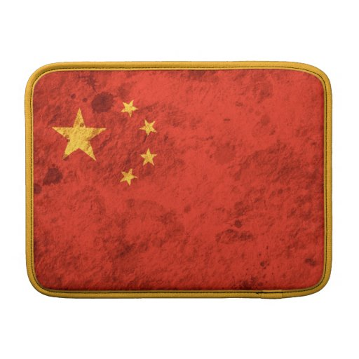 Rugged Chinese Flag Sleeves For MacBook Air