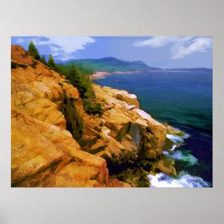 Rugged Coast of Maine at Acadia N.P. -Realism Poster