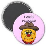 Rugged Cowboy Grumpey 3 Inch Round Magnet