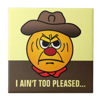 Rugged Cowboy Grumpey Ceramic Tile