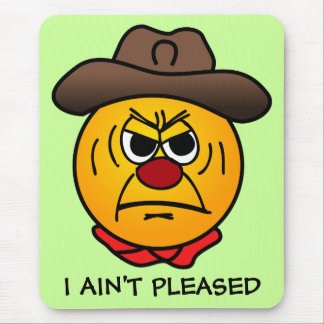 Rugged Cowboy Grumpey Mouse Pad