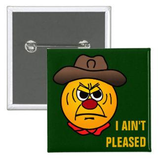 Rugged Cowboy Grumpey Pinback Button