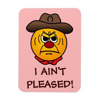 Rugged Cowboy Grumpey Rectangular Magnet