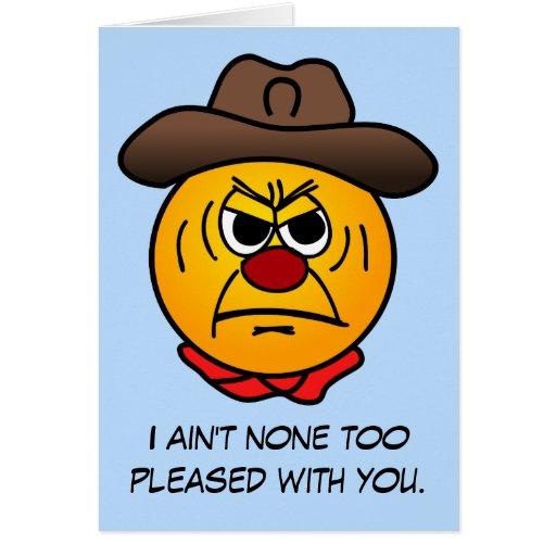 Rugged Cowboy Grumpey Stationery Note Card