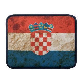 Rugged Croatian Flag MacBook Air Sleeves
