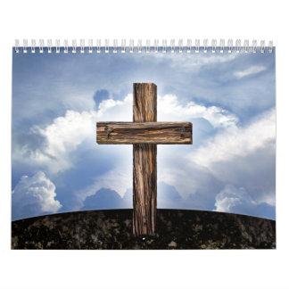 Rugged Cross with Sky Calendar