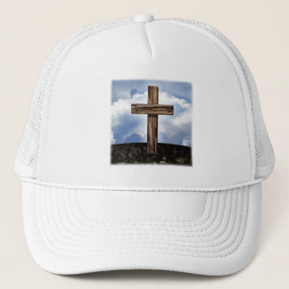 Rugged Cross with Sky Trucker Hat