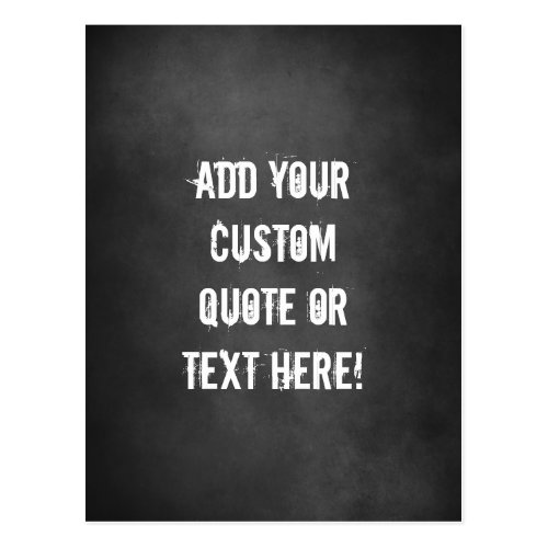 Rugged Distressed Look Custom Personalized Text Postcard