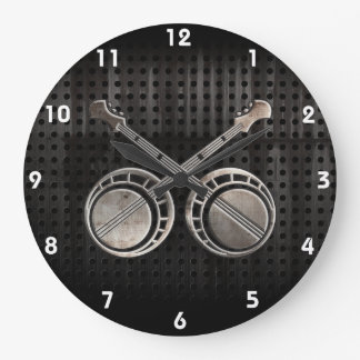Rugged Dueling Banjos Large Clock