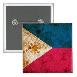 Rugged Filipino Flag Pinback Button