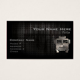 Rugged Fire Truck Business Card