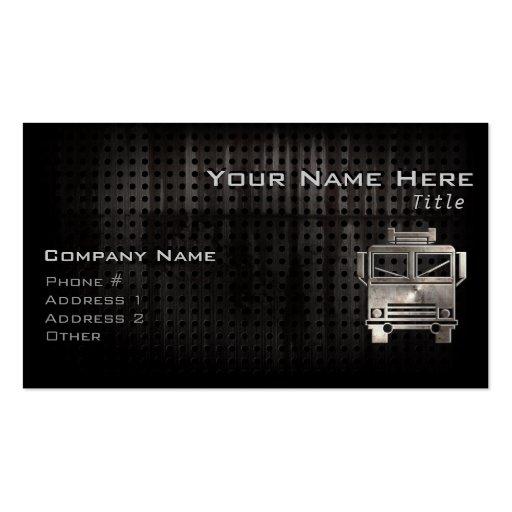 Rugged Fire Truck Business Card Templates